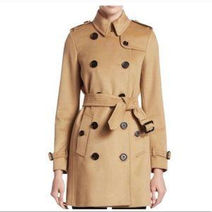 Burberry Kensington camel cashmere trench coat